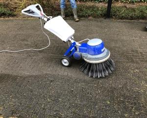 Oprit laten reinigen, mos verwijderen